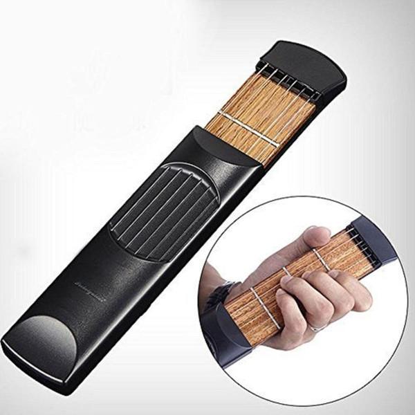 Práctica de cuerdas de guitarra portátil de bolsillo Herramienta Gadget para principiante Entrenador de diapasón de guitarra para instrumentos musicales de cuerda Principiante