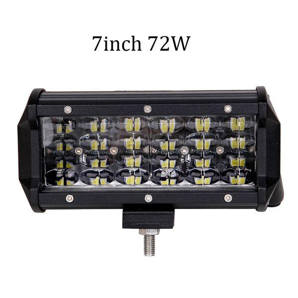 ECAHAYAKU 2PCS 7INCH 72W CAR LED LIGHT BAR OFF ROAD SUV 4X4 WORK LIGHT LAMP FOR CAR TRACTOR BOAT MILITARY EQUIPMENT 12V 24V
