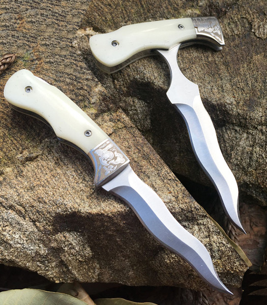 wholesale NEW Bone handle Multifunctional folding push knife adjustable lock back pocket Folding knife cutting tool 1PCS freeshipping
