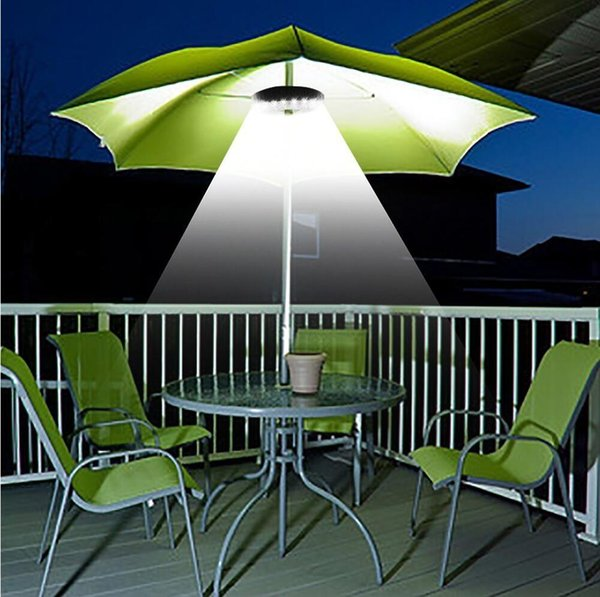 Free shipping 28LED 200 Lumens Outdoor Cordless Patio Umbrella Pole Light Garden Portable Camping Tent Lamp Emergency Light With Hooks