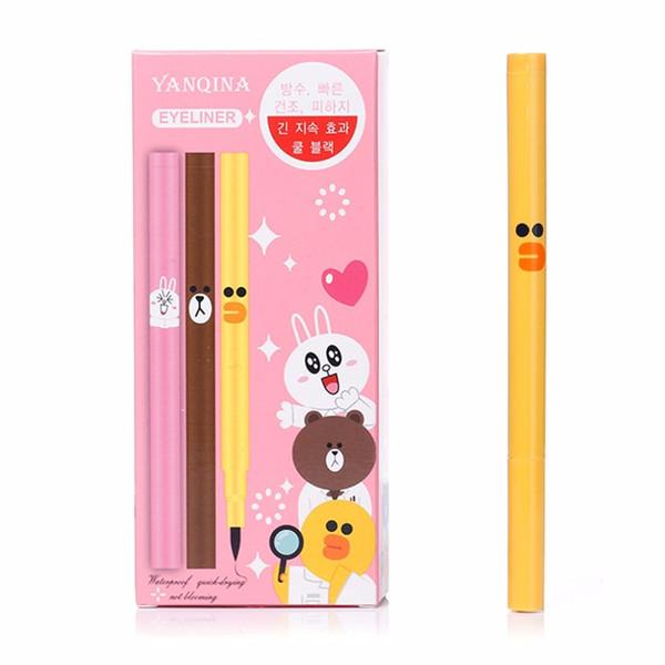 YANQINA 8654 Waterproof Long-lasting Cartoon Patterned Liquid Eyeliner Pen Women Fashion Eye Liner MakeUp Beauty Comestic