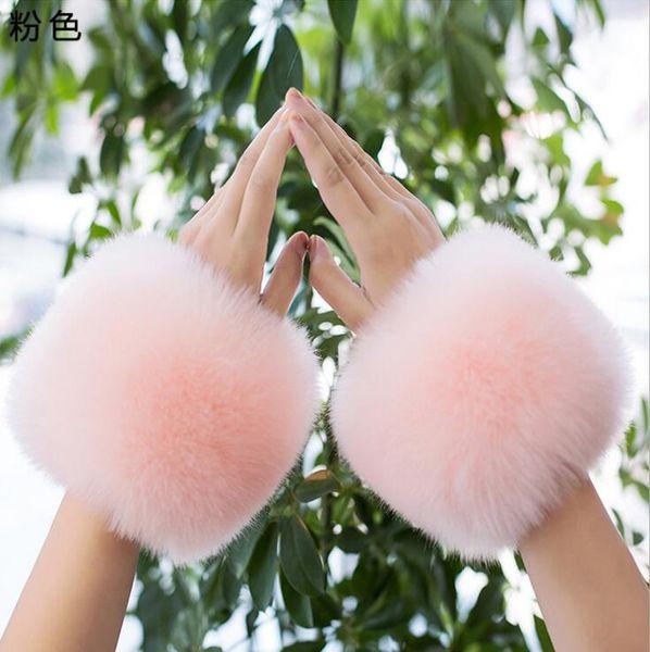 New product ladies winter warm furry cuffs imitation fox fur ladies clothing accessories imitation fur bracelet