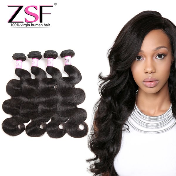 ZSF Best Price Unprocessed Malaysian Body Wave Human Hair Extensions 4 Hair Bundles Malaysian Body Wave Human Hair