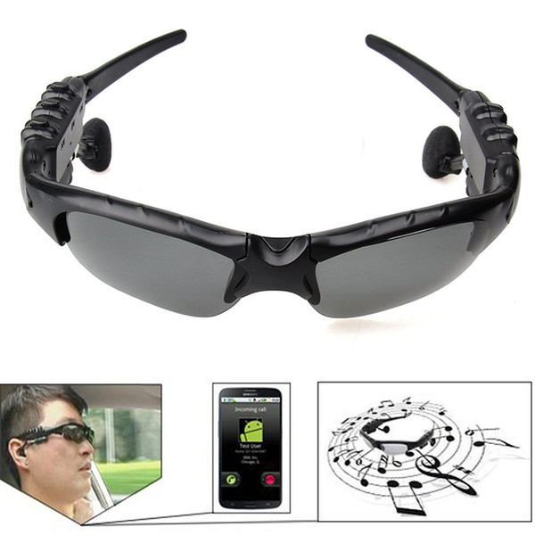 New Sunglasses Bluetooth Headset Wireless Sports Headphones Sunglass Stereo Handsfree Earphones mp3 Music Player With Retail Package