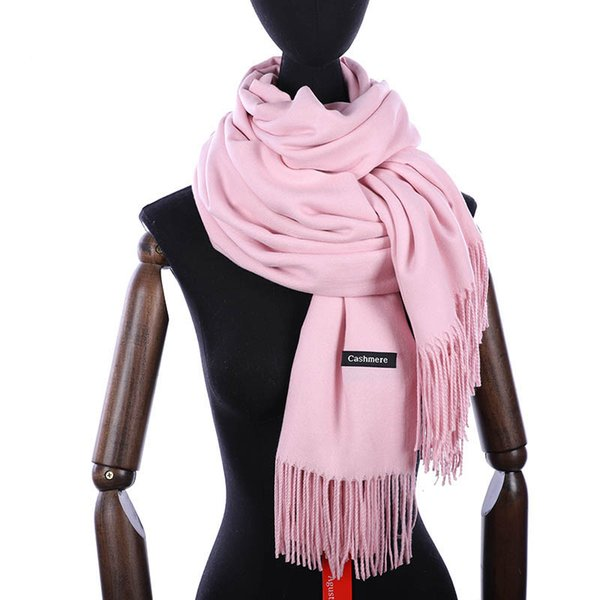 Hot sale Scarf Pashmina Cashmere Scarf Wrap Shawl Winter Scarf Women's Scarves Tassel Long Blanket Cachecol High Quality