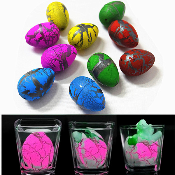 5Pcs/set Different Color Cute Magic Hatching Growing Dinosaur Eggs Novelty Gag Add Water Grow Toys Gifts For Children Kids