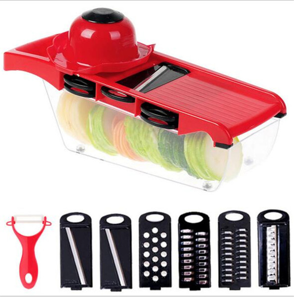 Quickdone Creative Mandoline Slicer Vegetable Cutter With Stainless Steel Blade Manual Potato Peeler Carrot Grater Dicer C058