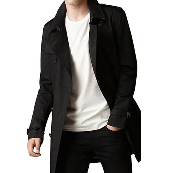 En Kaliteli İngiliz İnce Tek Göğüslü Erkek Uzun Trençkot Avrupa Trençkot Ceket Erkek Ceket Siper Ücretsiz Kargo