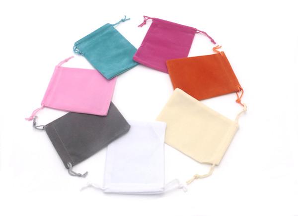 Multicolor 9*12cm Velvet Bag BlankJewlry Packing Wedding Favor Shoes Packing Bag Eco-friendly shopping Bags Customized LOGO