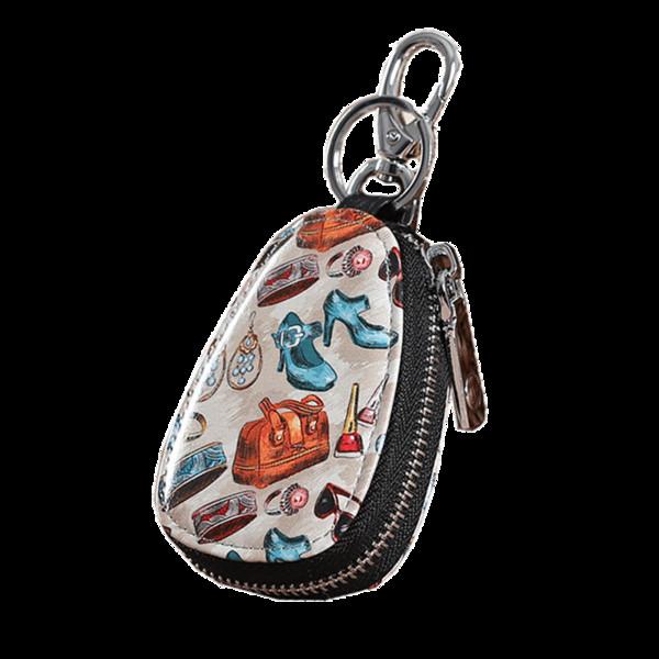 Lady Key Brieftasche Frauen Painted Schlüsselanhänger Graffiti Mädchen Haushälterin Schlüssel Cover Organizer Fall Weiblich Vintage Car Holder Bag