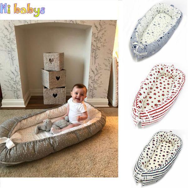 Portabel Baby Nest Letto Culla neonato Bionic Bed Toddler Size Nest Culla da viaggio con paraurti Bambini Neonato Culla in cotone per bambini