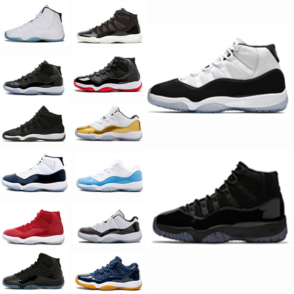 Barato transpirable 11s Prom Night Concord Zapatos de baloncesto Hombres Mujeres Popular 11 Bred Gamma Blue Space Jam Chicago Gym Red Sneakers