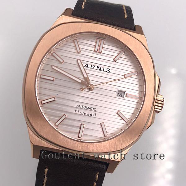 45mm miyota 821A white date window Sapphire Glass Automatic Movement mens watch