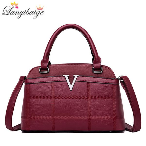 2018 Women Handbags Designer Leather High Quality Woman Shoulder Crossbody Bags Luxury Female Big Tote Fashion Style Lady Bag