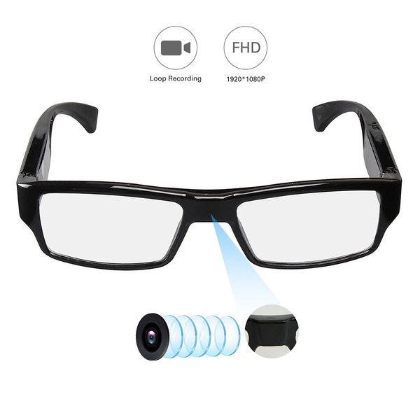 Moda cámara de vidrios estenopeicos Full HD 1080 P grabadora de video digital gafas de la cámara DVR Mini videocámara
