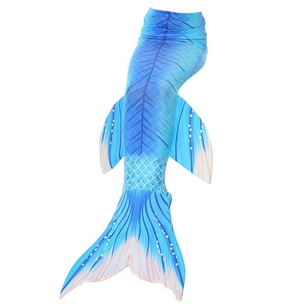 2018 Date Enfants Swimmable Petite Sirène Queue Costume Spandex Filles Enfant Sirène Tails Adulte Natation Enfants Cosplay Bleu