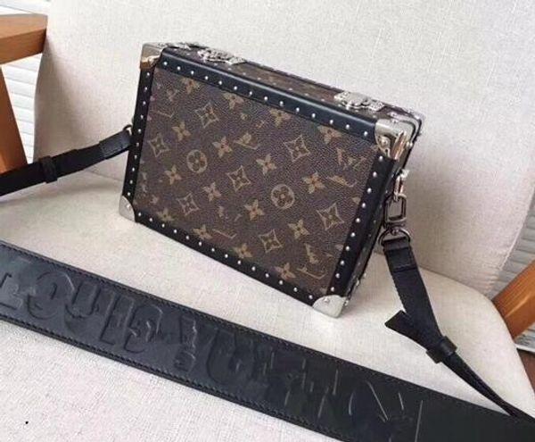 Summer Unisex 2018 Новая корейская версия дикой моды Холст Контраст Цвет Простой формы формы плеча сумка
