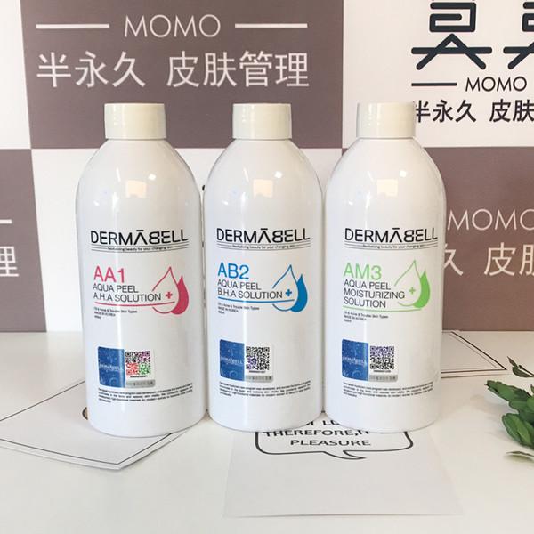 Nouvelle arrivée DERMABELL Aqua Peel Solution concentrée 400 ml par flacon Sérum pour le visage Aqua Sérum pour le visage Hydra Pour peaux normales Aqua Clean Solut