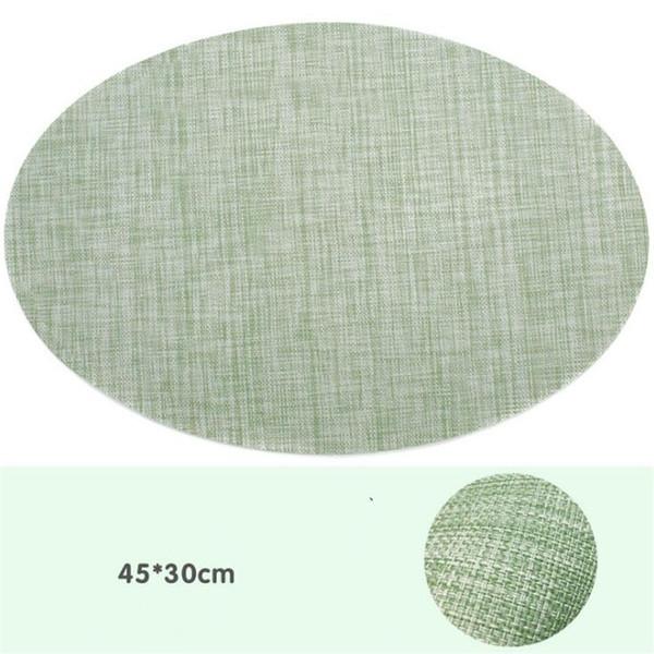 Овальный мятно-зеленый