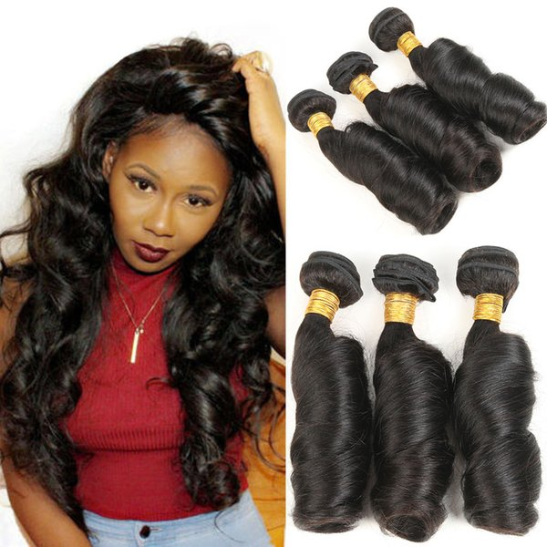 """3 Pieces Virgin Hair Indian Spring Curly Hair Extensions 8""""-30"""" 100% Human Hair Bundles Soft & Thick"""