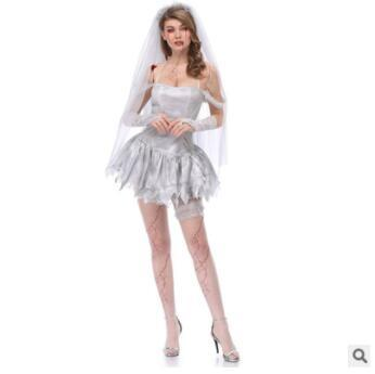 The new beautiful new veil ghost bride dry body clothing art photo suit export Japan Halloween costume