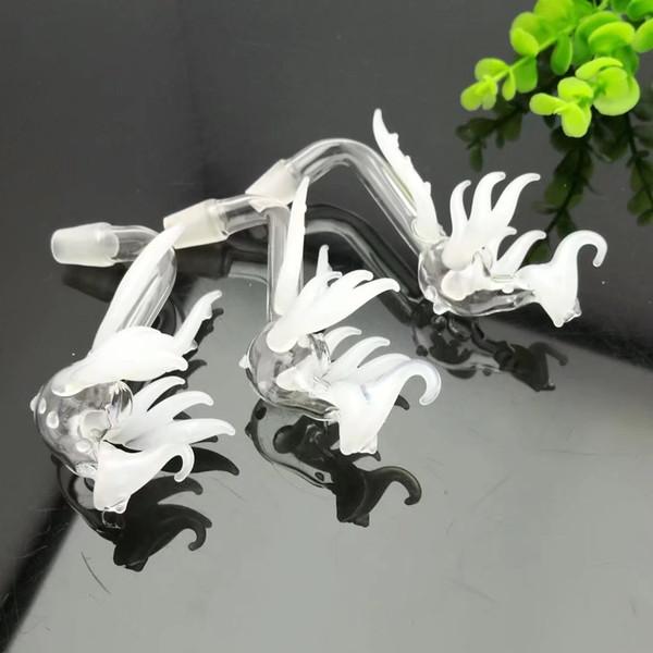 Branco phoenix pote Bongos De Vidro Por Atacado Queimador De Óleo De Vidro Tubulações De Água Plataformas Petrolíferas Fumar Livre