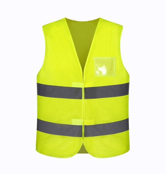 segurança de estrada de colete de segurança de construção colete 100% poliéster aviso reflexivo
