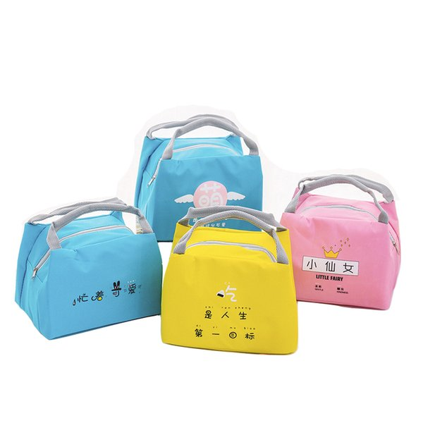 New portable small lunch box bag Outdoor convenient picnic bag ice pack thick student insulation