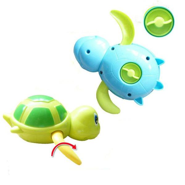 6pcs Baby Shower Bath Tortoise Animals Water Clockwork Floating Toys Fir Children Kids Swimming Paddle Game Beach Fish Toy