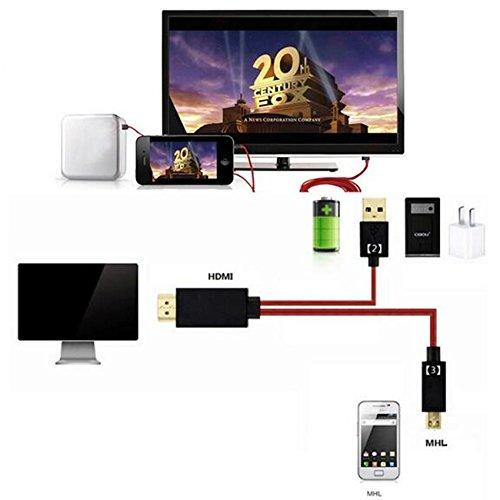 Fun-Home 6.5 Feet 11 Pin Micro USB to HDMI Adapter Cable 1080P HDTV For Samsung Galaxy S5 S4 S3 Note 3 Note 2