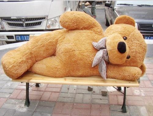 "Giant Teddy Bear Brown Huge Stuffed Plush Animal Toy 47"" Brithday Valentine Gift"