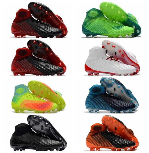 2018 botines de fútbol magista zapatos de fútbol para hombre magista obra II FG AG Botas de fútbol de tobillo alto dorado con acc botas de futbol Hot