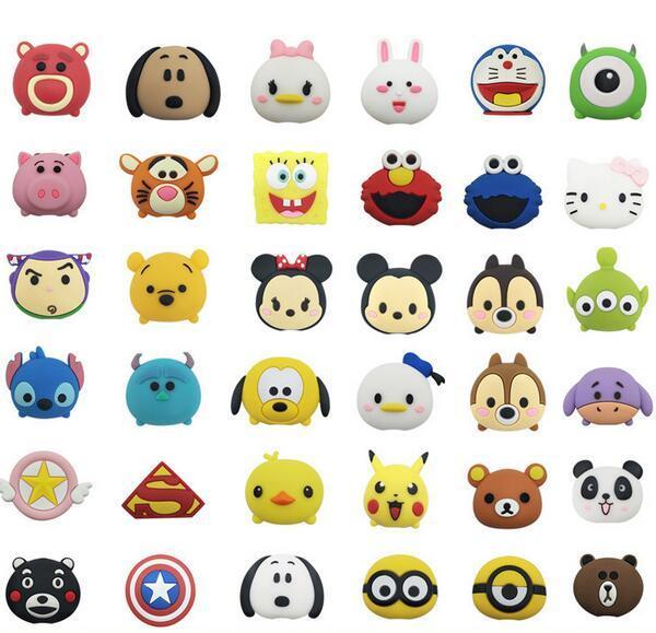 Acheter 2018 Date Câble Dessin Animé Animal Bite Protector Pour Iphone Câble Organizer Winder Titulaire Du Téléphone Accessoire Lapin Chien Chat