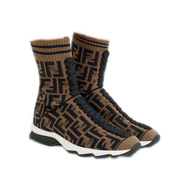 Women Boots Designer original Luxury ins hot Boutique Fashion Brand letter sexy Knitting soft elastic sports Wool socks tube woolen Boot