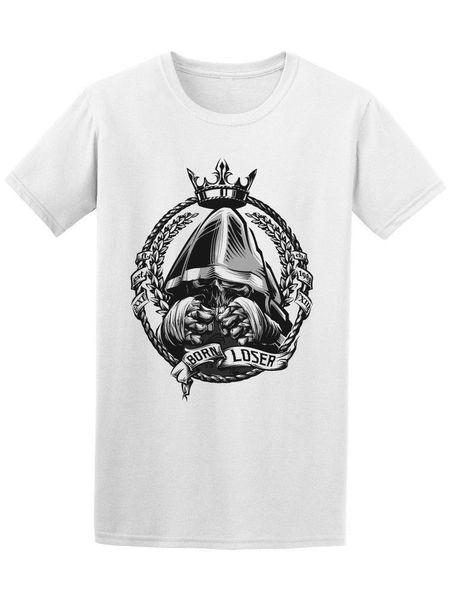 Dead Boxer Born Loser Men's Tee Print Casual T-Shirt Men Brand top tee Comical Shirt Men'S