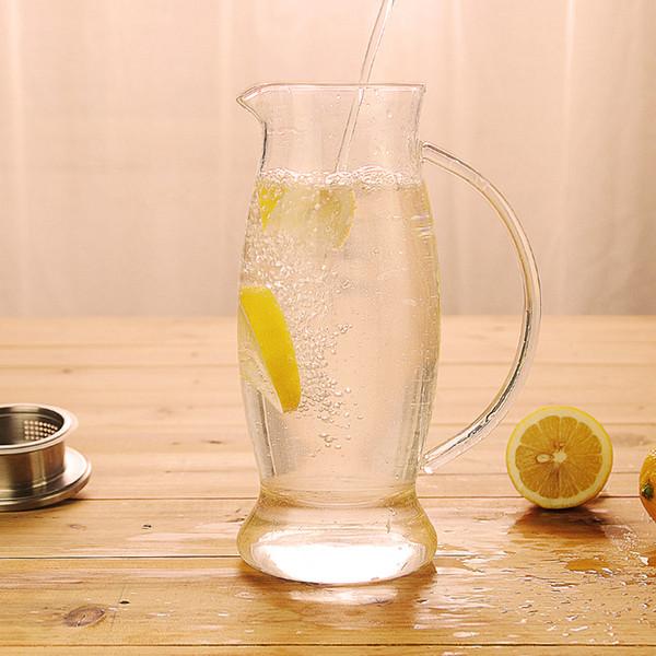 1500 ml Hogar resistente al calor de alta temperatura a prueba de explosiones tetera botella de agua de gran capacidad olla de agua conjunto de vidrio hervidor frío