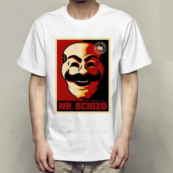 Hack t camisa Mr schizo manga curta vestido legal rua tees Unisex clothing Qualidade algodão Tshirt