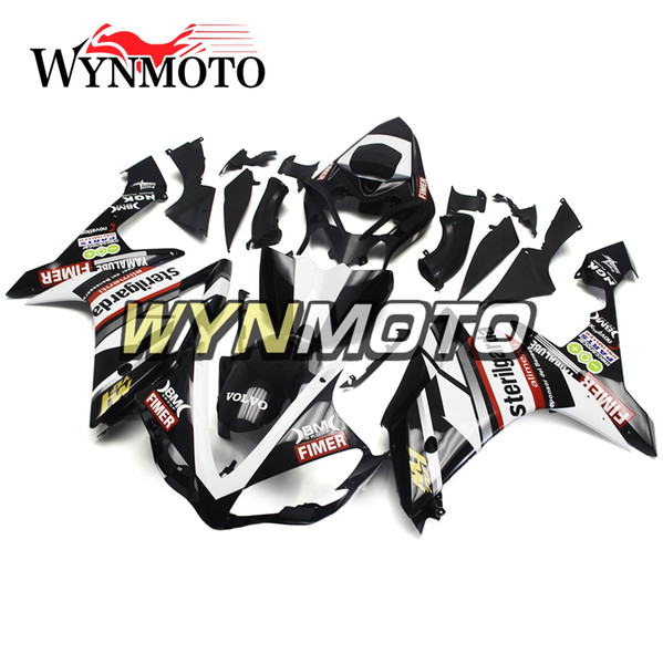 ABS Motorcycle Full Fairing Kit For Yamaha YZF1000 R1 YZF 1000 2007 2008 Bodywork ABS Injection Body Kits Black With Decals Cowlings