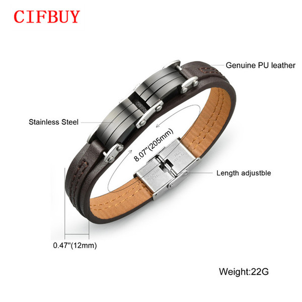Man's PU Leather Charm Bracelet Casual Sporty Black Stainless Steel Men's Friendship Jewelry High Quality Accessories PH963