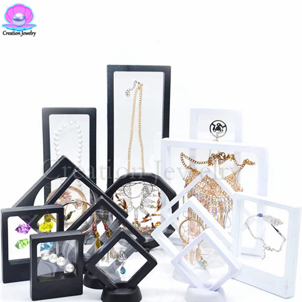 Wholesale High Quality 2018 3D Floating Frame Display Holder Box with Stands for Challenge Coins, Medallions, Jewelry