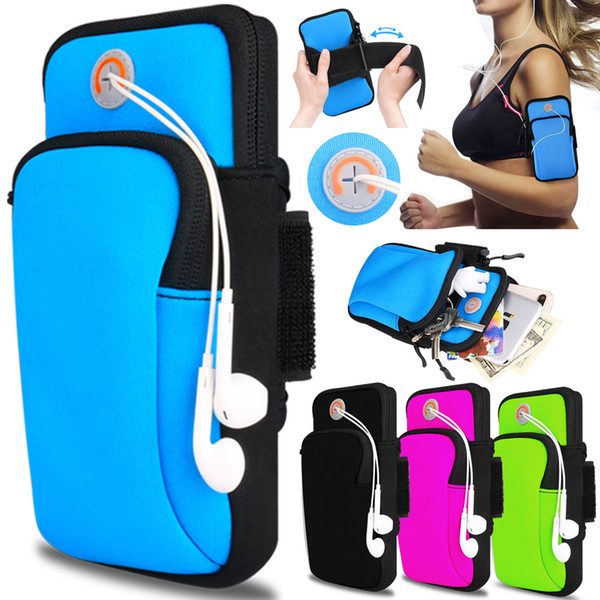 Sports Armband Case Cover Running Jogging Arm Band Pouch Holder Bag for 4-6 inch Universal For Phone 2018 X XS Plus
