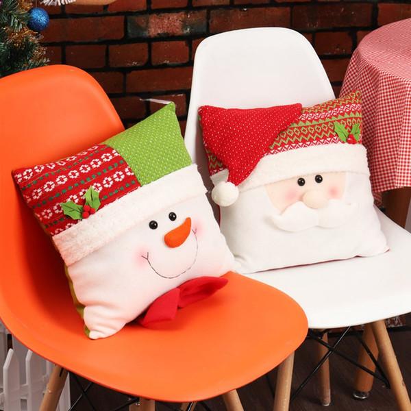 Creative Christmas Hold Pillow Snowman Papá Noel Cojín Hogar Throw Pillow Decoraciones de Navidad para el hogar regalos de vacaciones