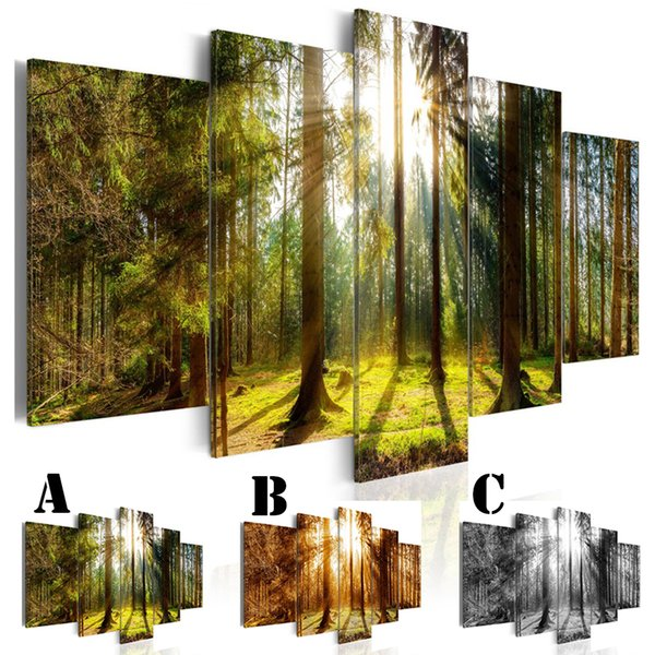 No Framed Wall Picture Printed Canvas Painting Spray Painting Home Decor Extra Mirror Border Warm Light of Sun