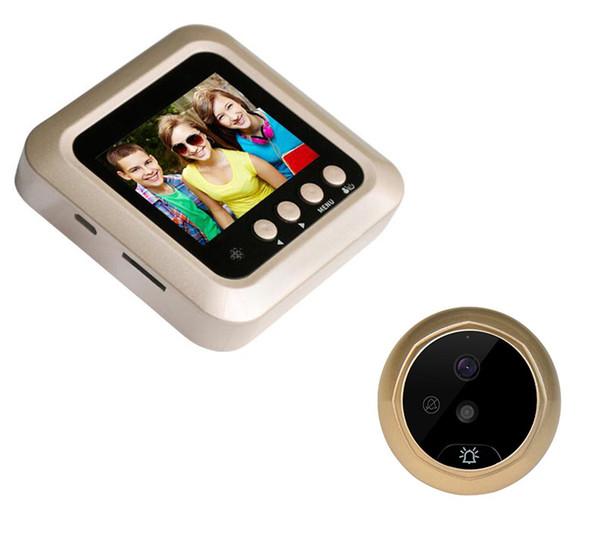 1pcs 2.4 pollici dello schermo della macchina fotografica della porta digitale a colori a cristalli liquidi campanello 160 gradi Peephole Visore del portello Eye campanello all'aperto door bell