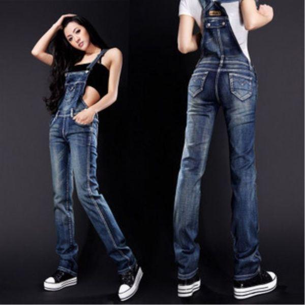 New Arrival Womens Jumpsuit overalls Spaghetti Strap Body Pants Street Style Denim Bib Women Lady Jeans Rompers