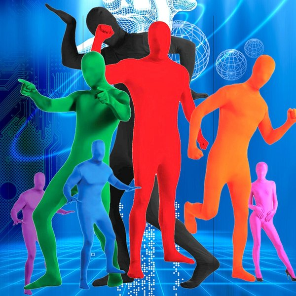 606e6efd054 Adult Lycra Full Body Zentai Suit Custome Men Second Skin Tight Morph Suits  Spandex Bodysuit Halloween Stage Cosplay costumes