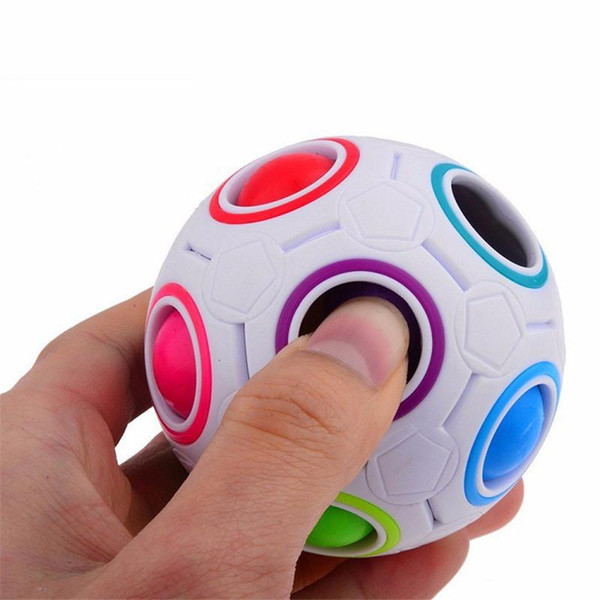 240Pcs/Lot Fun Creative Spherical Magic Cube Speed Rainbow Ball Football Puzzles Kids Educational Learning Toy for Children Adult Gift