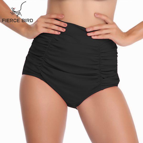 Plus Size Bandage Bottom Two-Piece Separates Red Black Brazilian Bikini Bottoms High Waist Bikini Bottoms Lady e Thong