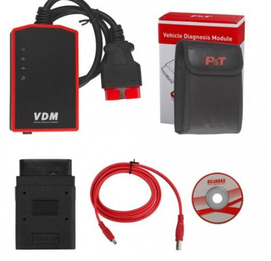 Multi-Languages Wifi VDM UCANDAS V3.9 Auto Diagnostic Scanner OBD2 supports auto Full Systems for WindowsPC / Android Phone