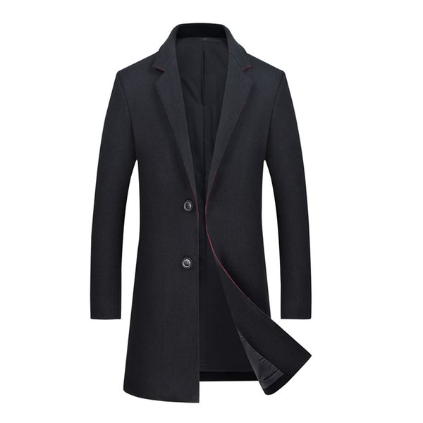 Mens Autumn&Winter New Stylish High Quality Silm fit Wool Overcoat Brand-clothing Casual Long Wool Trench Coat For Men